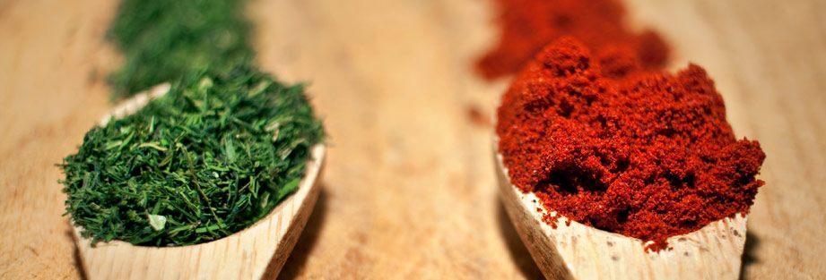Torkade eller färska kryddor
