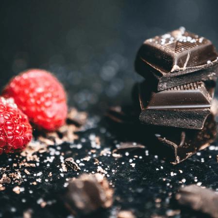choklad och hallon