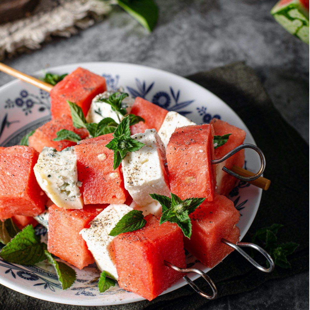 spett med melon